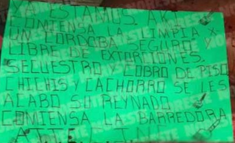 CJNG abandona tres descuartizados con narcomensaje en Veracruz
