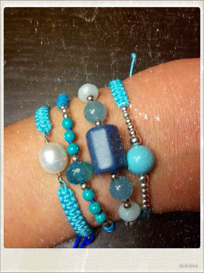 Pulsera artesanal plata perlas semipreciosas turquesas agatas jades coral joyeria bisuteria alhaja especial personalizada