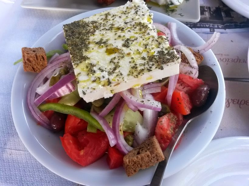 Greek Salad in Santorini