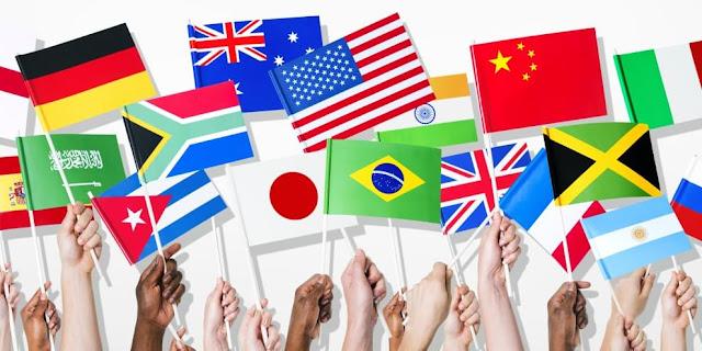 nações e bandeiras