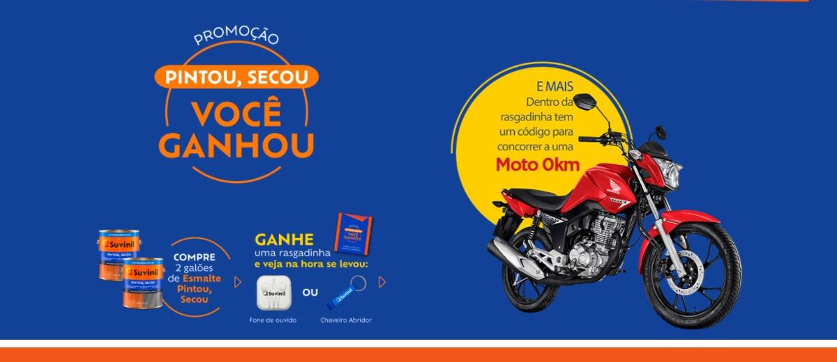 Promoção Esmalte Suvinil 2020 Sorteio Moto Nova