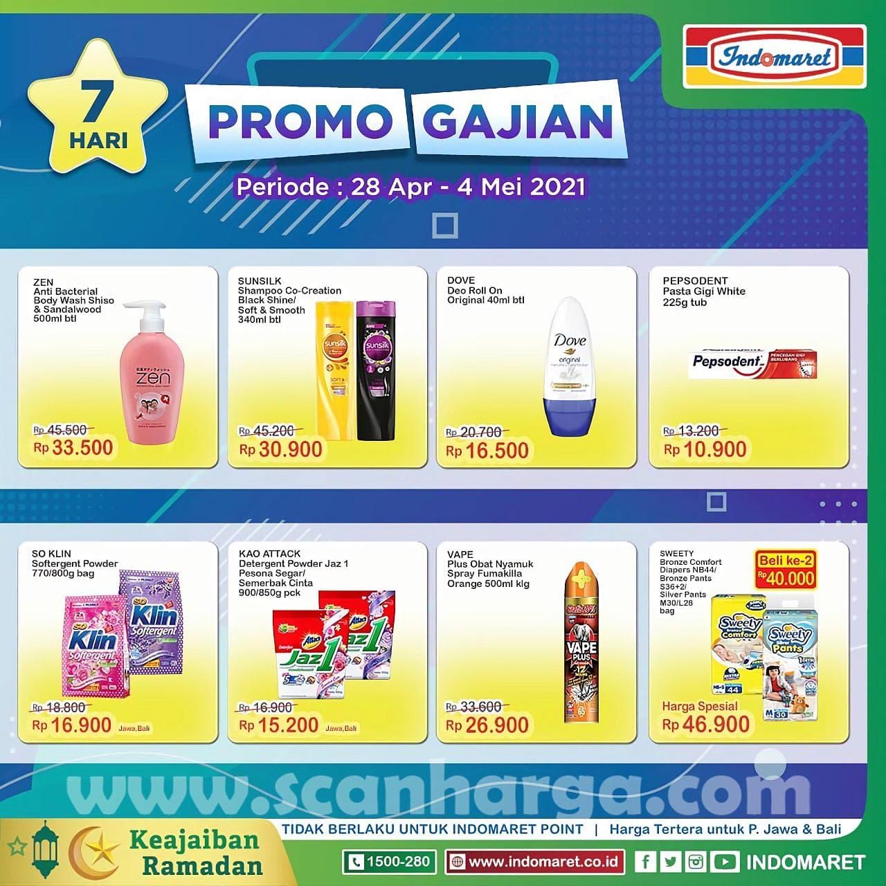 INDOMARET Promo GAJIAN Periode 28 April - 4 Mei 2021 2