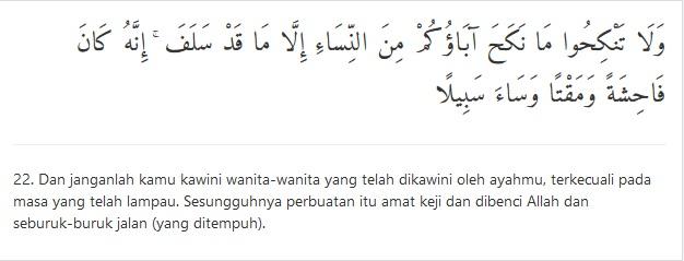 an nisaa ayat 22