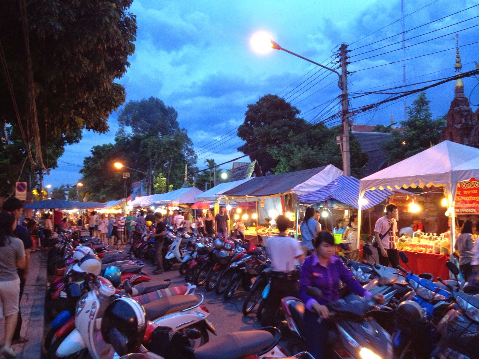 Chiang Mai - We came across a night market but it was mostly food