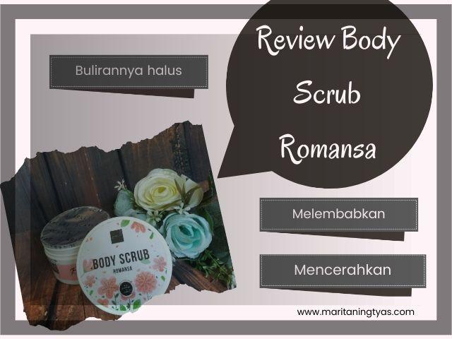 review scarlett whitening body scrub romansa
