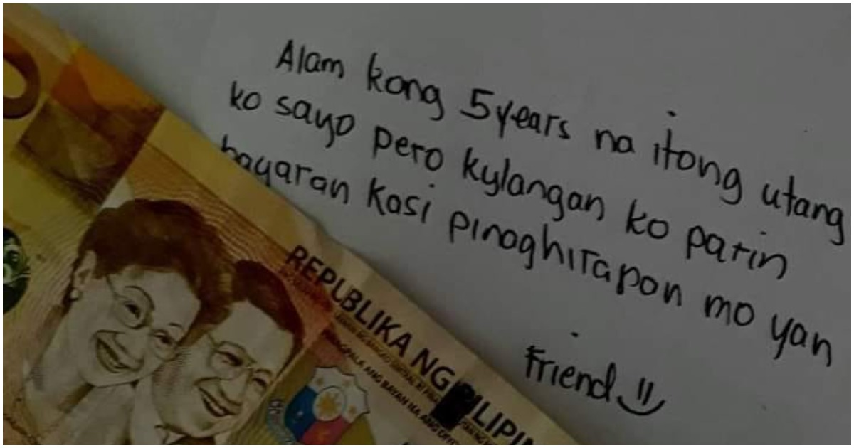 Netizen goes viral after paying 5-year debt from friend