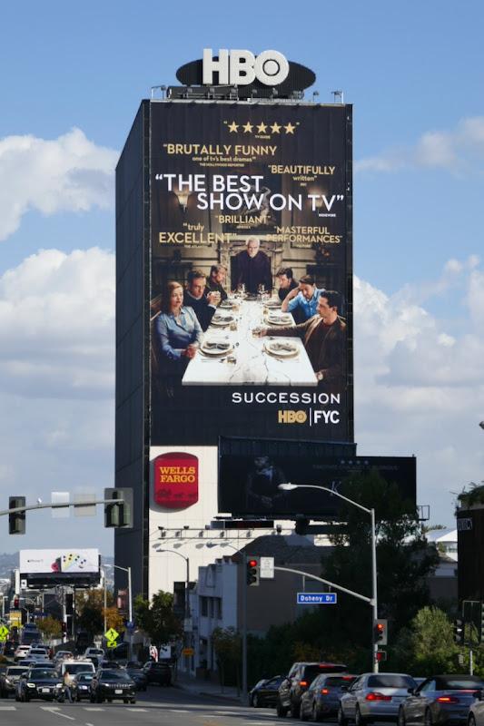 Giant Succession season 2 FYC billboard