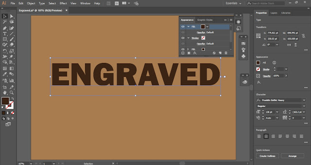 Engraved Text Effect in Adobe Illustrator