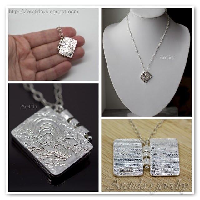 http://www.arctida.com/en/home/116-book-pendant-fine-silver-locket-necklace-pmc.html