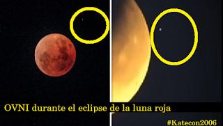 OVNI durante la luna azul y el eclipse de la luna roja 31.1.18 #Katecon2006
