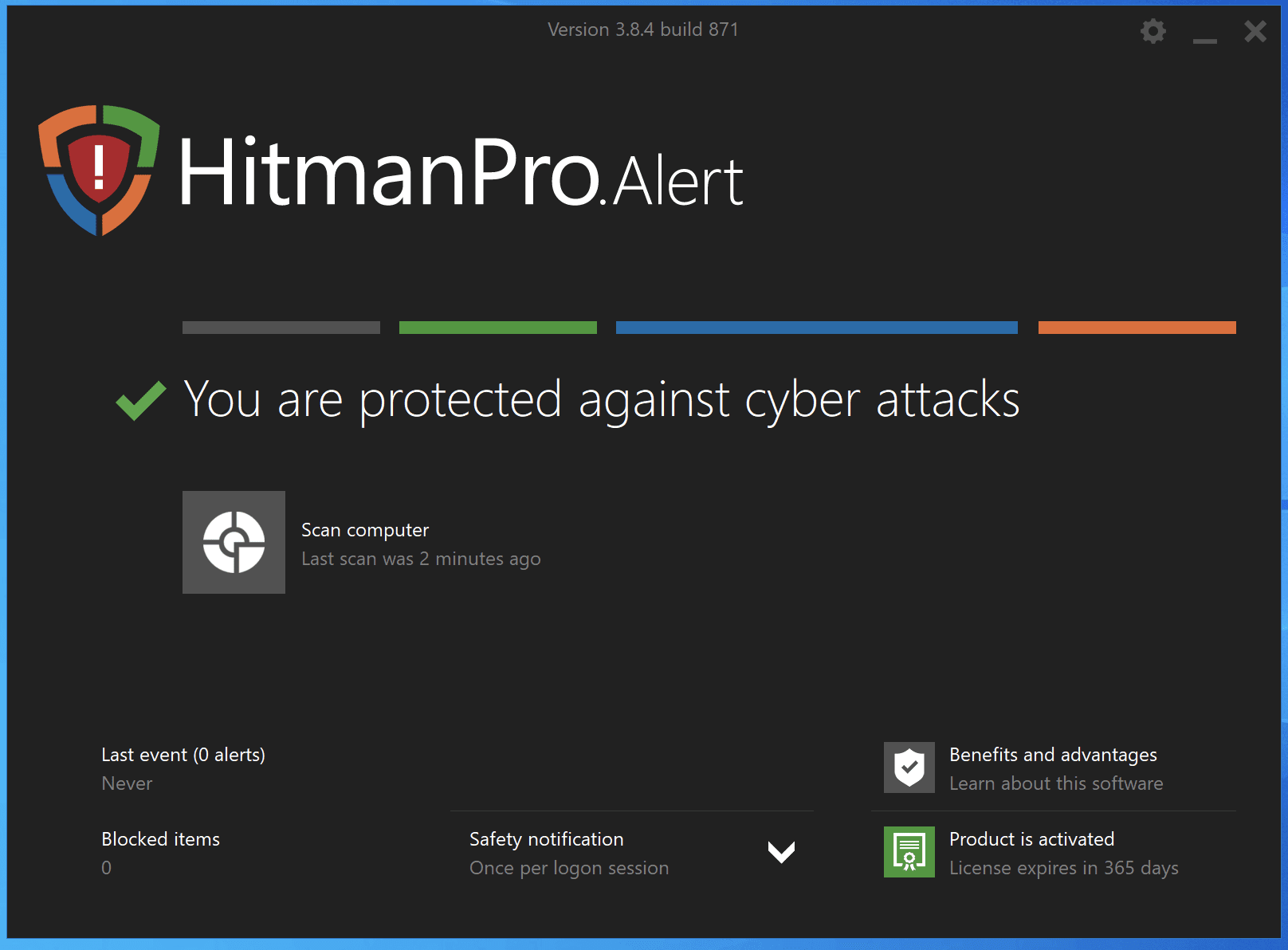 HitmanPro.Alert Scan Completed Screenshot