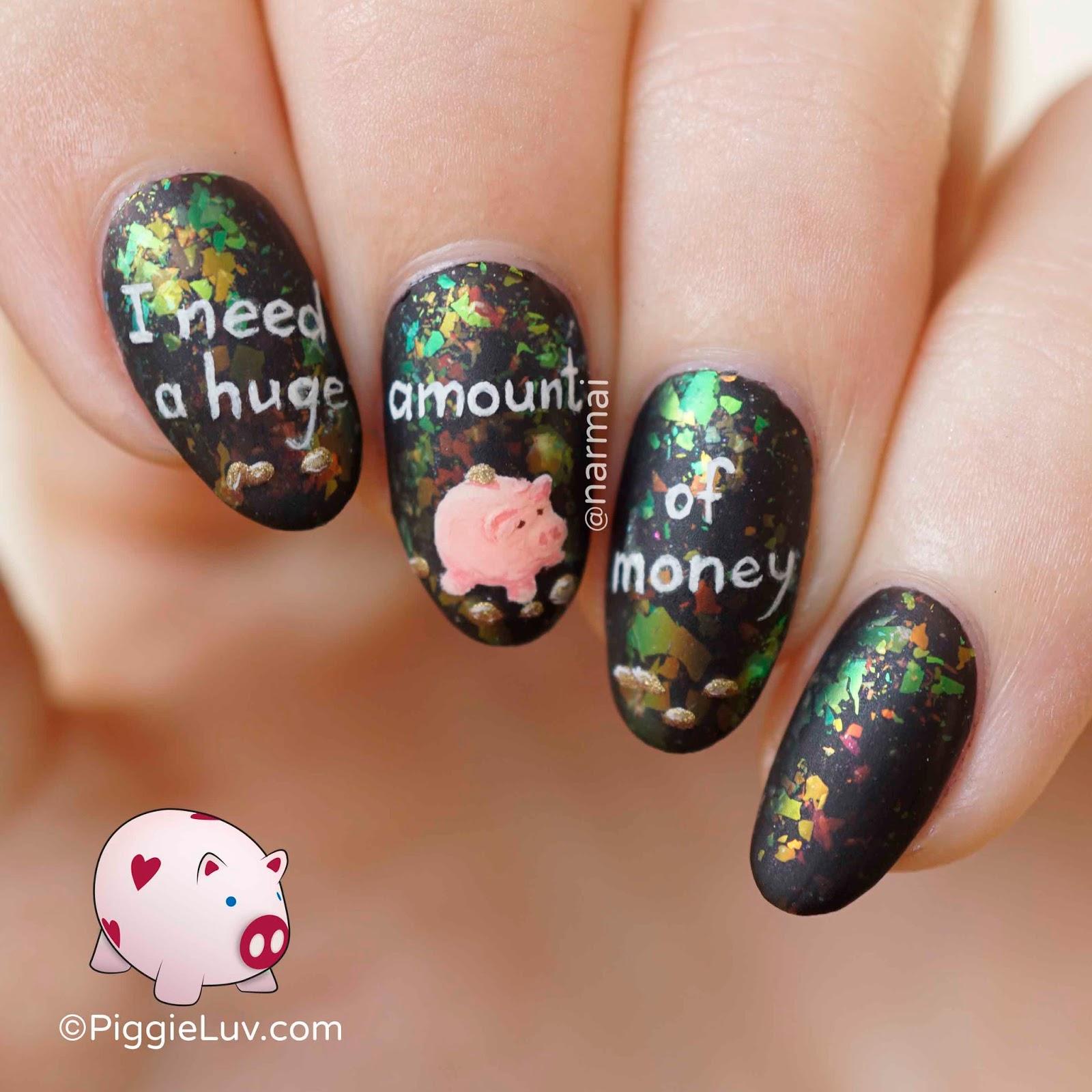 Piggieluv I Need A Hug Nail Art