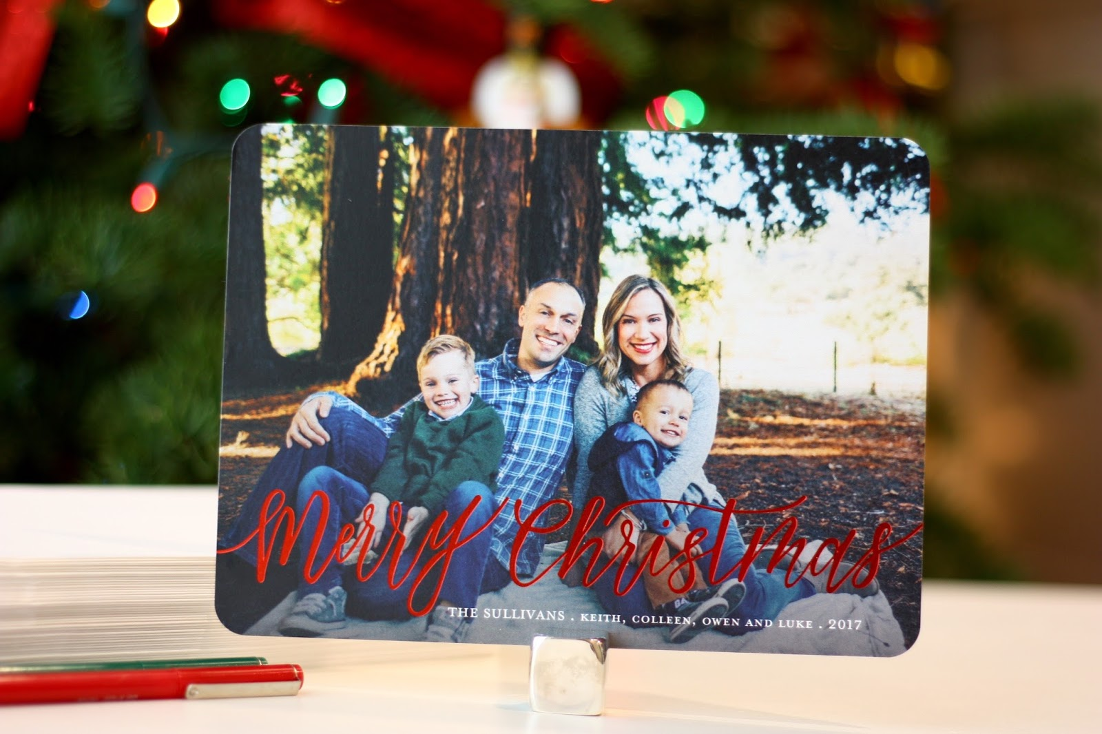Meet the Sullivans: 2017 Christmas Cards with Shutterfly