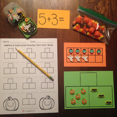 Math manipulatives: Use seasonal erasers for addition and subtraction math practice