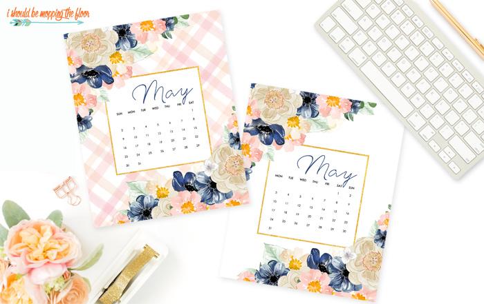 Free May Calendar Printables