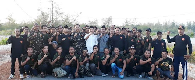 Keren! Camat dan Beberapa Kepala Desa di Belitung Ikut Diklatsar Banser