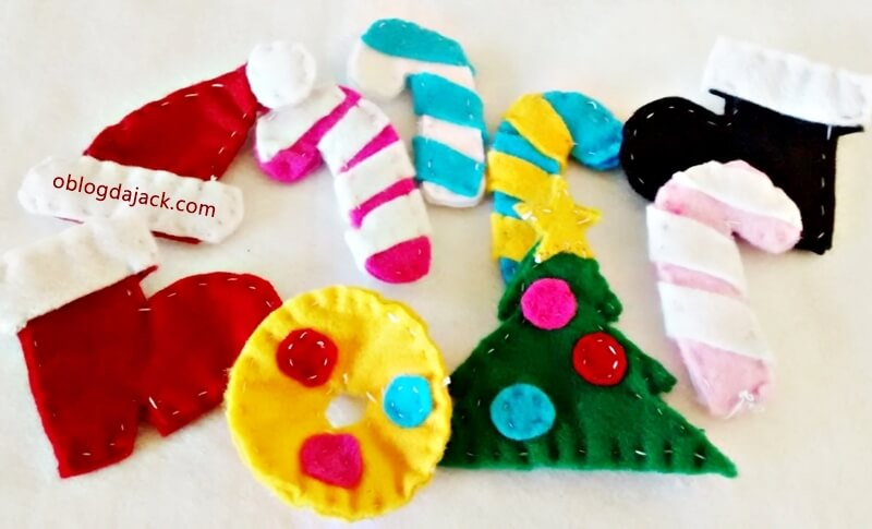 DIY enfeites de natal com feltro