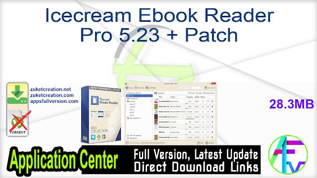 Icecream Ebook Reader Pro 5.23 + Patch