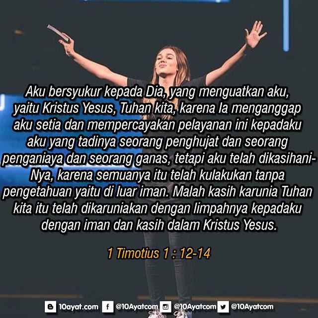 1 Timotius 1 : 12-14