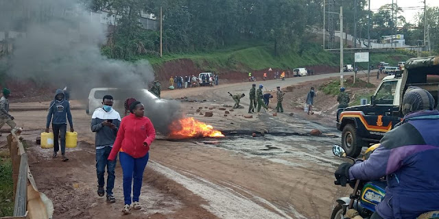Protests in Kisii town
