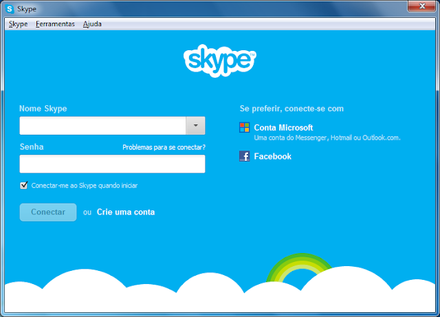 integrar windows live messenger e skype