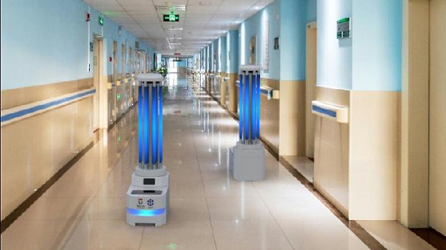 Gugus Tugas Dapat Bantuan Robot Desinfektan