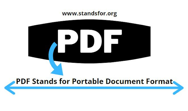 PDF-PDF Stands for Portable Document Format