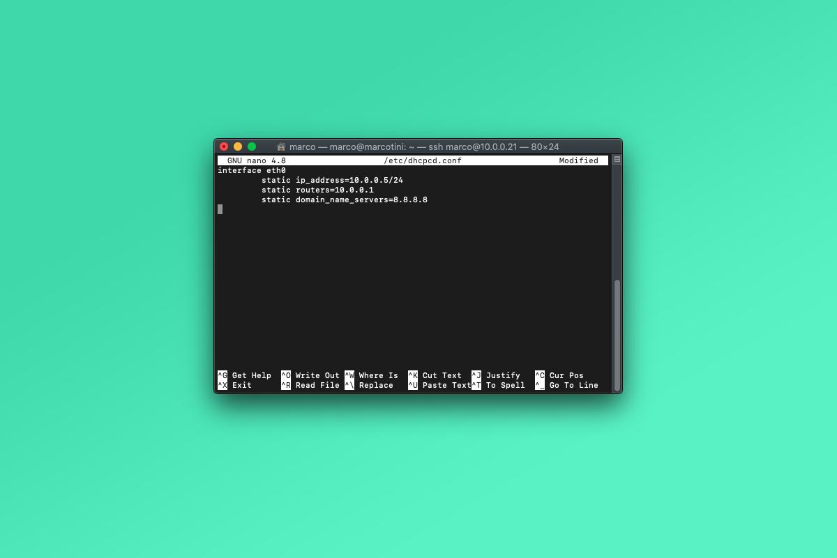 Come configurare un indirizzo IP statico su Raspberry Pi OS