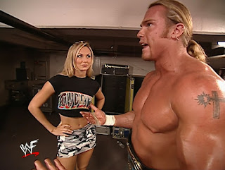 WWE / WWF Survivor Series 2001 - Test flirts with Stacy Keibler