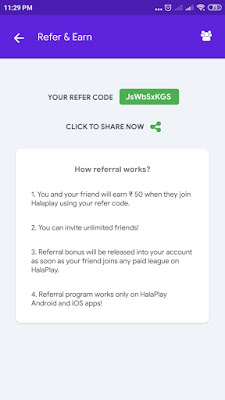 Halaplay Refer Code: JsWbSxKGS: Halaplay Payment Proof