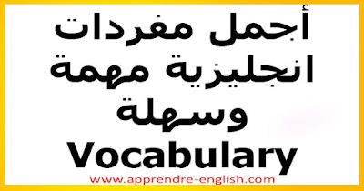 أجمل مفردات انجليزية مهمة وسهلة  Vocabulary  تعلم اللغة الانجليزية