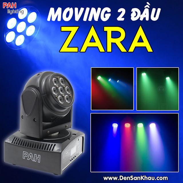 Đèn Mini Moving Head ZARA 2 mặt LED siêu sáng càn quét mọi không gian.