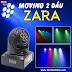 Moving head mini 2 mặt LED siêu sáng càn quét mọi không gian
