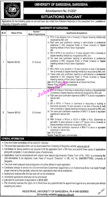 university-of-sargodha-uos-jobs-advertisement-no-01-2021