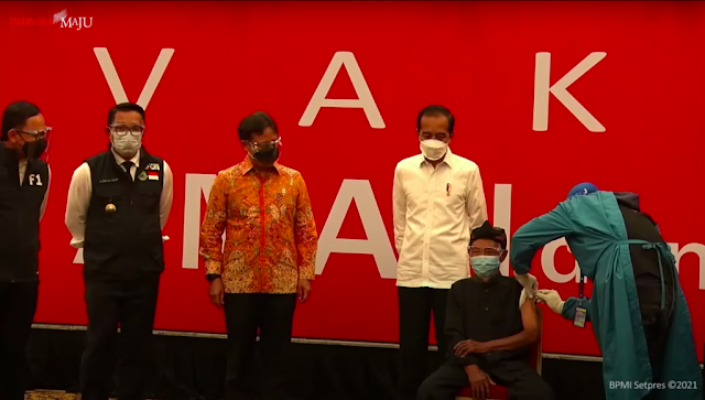 Menyasar 500 Orang, Jokowi Tinjau Vaksinasi Massal di Bogor