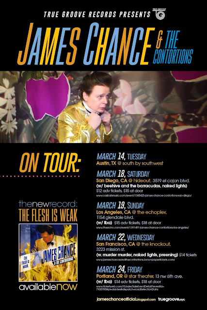 James Chance & The Contortions Announce US Dates for March '17 including SxSW