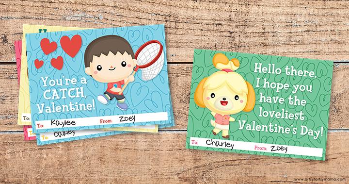Free Printable Animal Crossing Valentines