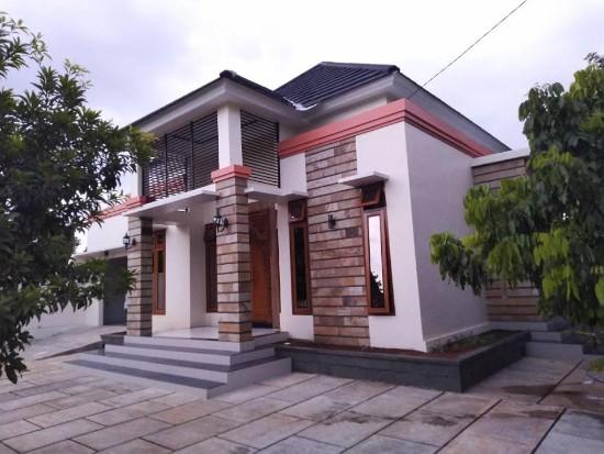 rumah minimalis dengan aksen batu alam