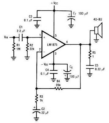 Wiring Pre Circuit diagram: LM1875 20 Watt Audio Power