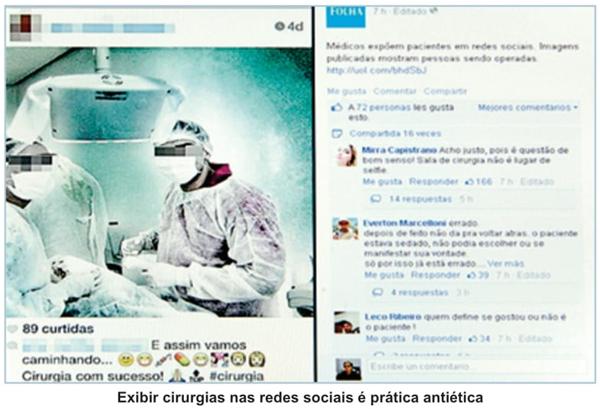 Postagem de imagens de cirurgias em redes sociais infringe o Código de Ética