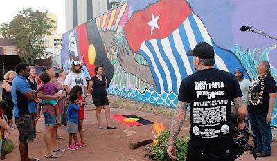 Save the West Papua Friendship Mural on Larrakia Land Darwin, Australia