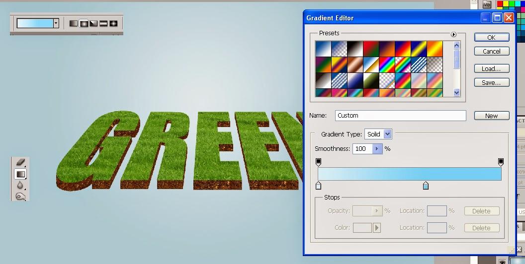 teks efek photosshop,tutorial teks 3D