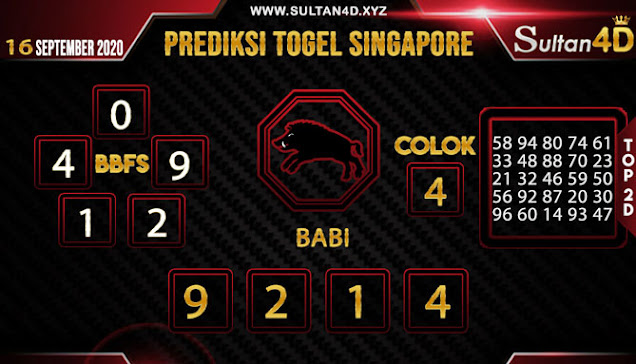 PREDIKSI TOGEL SINGAPORE SULTAN4D 16 SEPTEMBER 2020