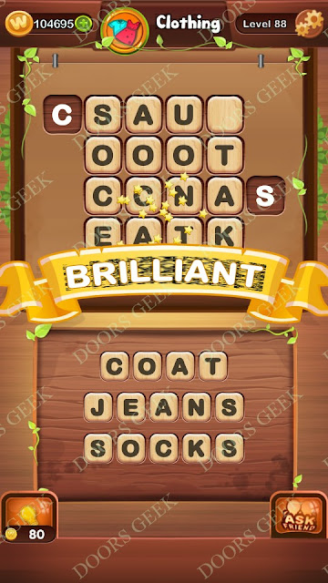 Word Bright Level 88 Answers, Cheats, Solutions, Walkthrough for android, iphone, ipad and ipod