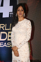 Chandini Chowdary in white Tight dress at Shamanthakamani pre release function ~  Exclusive 018.JPG