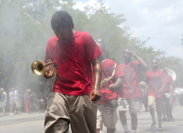 Fourth of July; Northside; Cinncinnati; Parade; Band; Marching Band