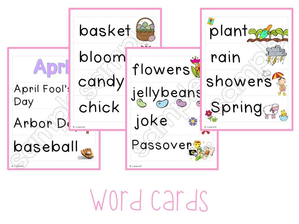 Adventures in Kindergarten: Awesome April Words