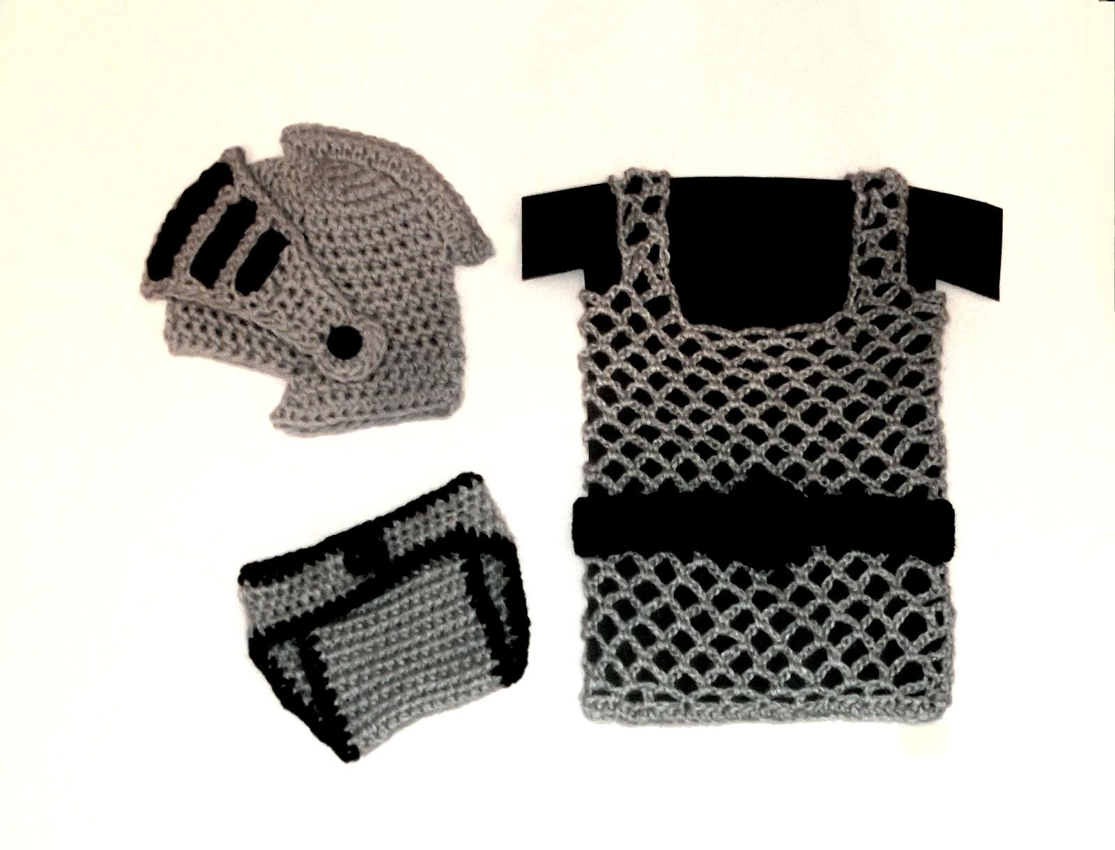 Cute Designs: Knight Helmet / Diaper Cover / Chainmail vest Crochet ...