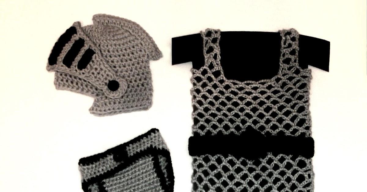 Cute Designs Knight Helmet Diaper Cover Chainmail Vest Crochet