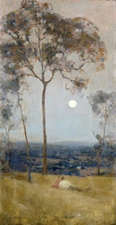 Above Us The Great Grave Sky - Arthur Streeton painting